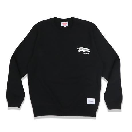 FLAG  C/N  SWEAT  SHIRT  BLACK  フラッグ  スウェットシャツ  ブラック