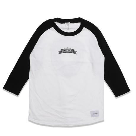 HERALDIC  RAGLAN  3/4 TEE ヘラルディック  ラグラン七分袖  TEE  ブラック/ホワイト