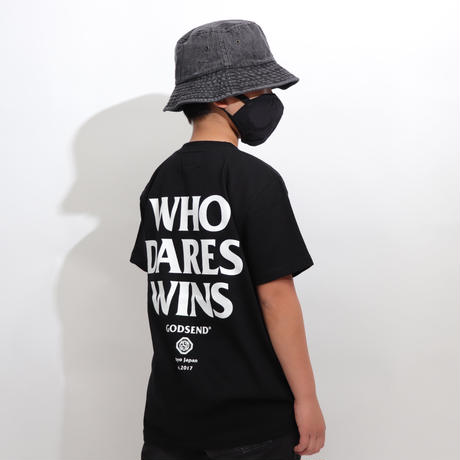 WHO  DARES  WINS  TEE  BLACK   フー  デアーズ  ウィンズ  TEE  ブラック