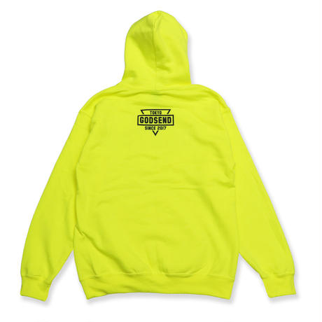 GSDTYO  HOODIE  ADULT  SIZE  NEON  YELLOW  GSDTYO  パーカー  蛍光イエロー  大人サイズ