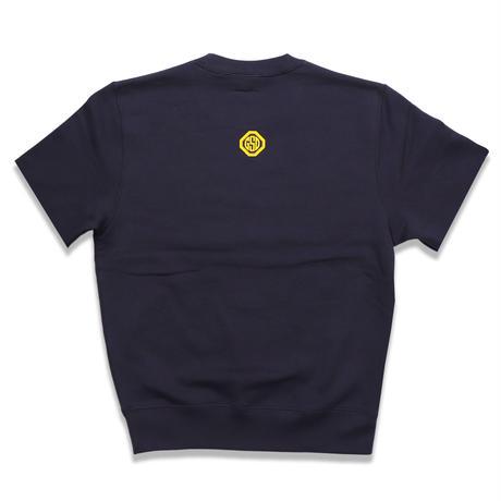 SILLY  GOOSE  CUTOFF  SWEAT  SHIRT  NAVY  シリーグース  カットオフスウェットシャツ  ネイビー