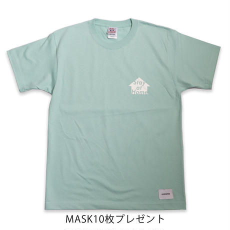 STAY  AT  HOME  TEE  BLUE  ステイアットホーム  Tシャツ  ブルー