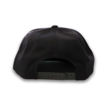 6PANEL  OVAL  LOGO  COTTON  CAP  BLACK