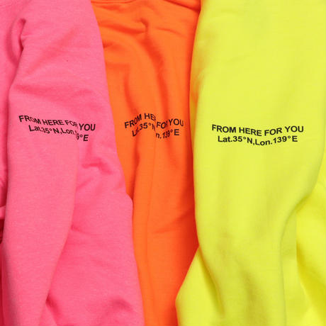 SMALL  LOGO  HOODIE  ADULT  SIZE  NEON  PINK  スモールロゴ  パーカー  蛍光ピンク  大人サイズ