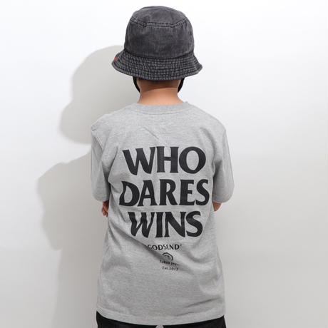 WHO  DARES  WINS  TEE  TOP  GREY   フー  デアーズ  ウィンズ  TEE  トップグレー