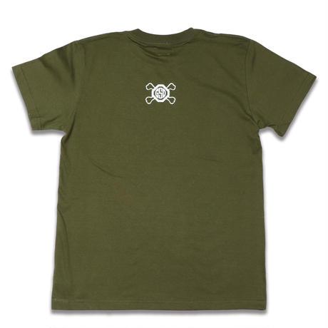 SHINE  HARD  TEE  シャインハード  Tシャツ  カーキ  大人サイズ