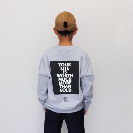 YOUR  LIFE  P/O  ユア  ライフ  プルオーバースウェット  GRAY