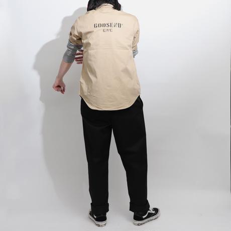 T/C  WORK SHIRTS  BEIGE  T/Cワークシャツ  ベージュ