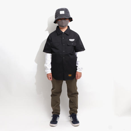 T/C  WORK SHIRTS  BLACK  T/Cワークシャツ  ブラック