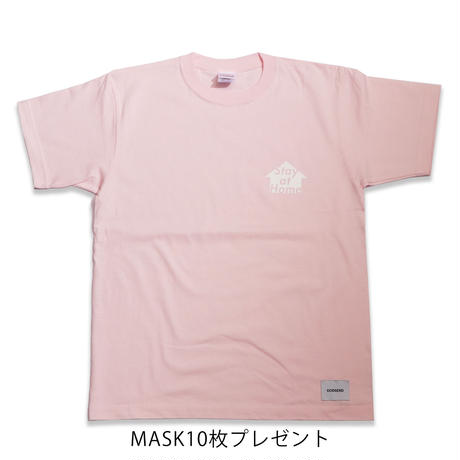STAY  AT  HOME  TEE  PINK  ステイアットホーム  Tシャツ  ピンク