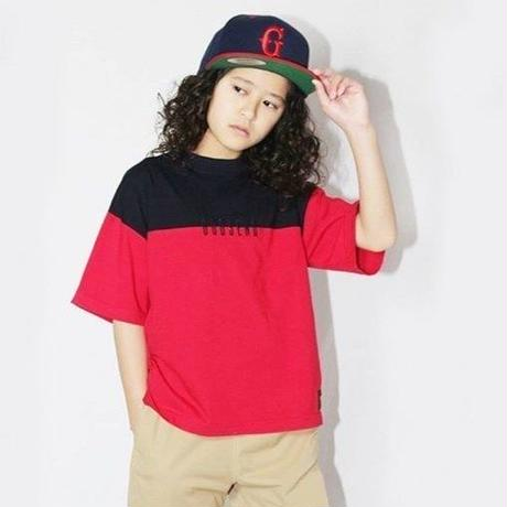 BICOLOR  EMBROIDERY  TEE  RED