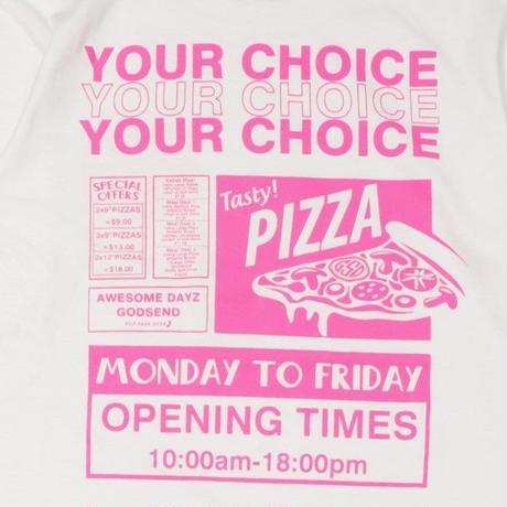 PIZZA  L/S TEE ピザ  ロンTEE  ホワイト  大人サイズ