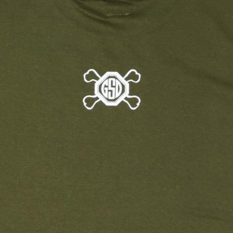 SHINE  HARD  TEE  シャインハード  Tシャツ  カーキ