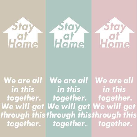 STAY  AT  HOME  TEE  SAND BEIGE  ステイアットホーム  Tシャツ  サンドベージュ