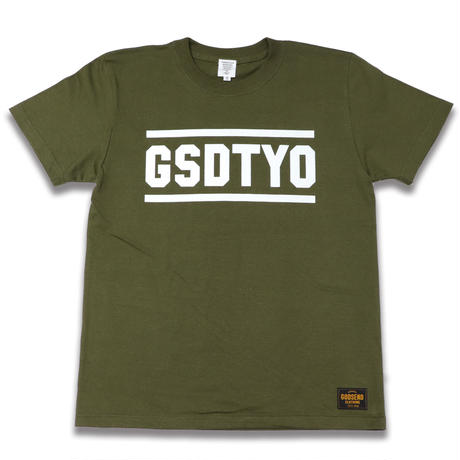 GSDTYO  TEE  GSDTYO  Tシャツ  カーキ  大人サイズ