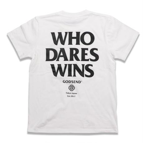 WHO  DARES  WINS  TEE  WHITE   フー  デアーズ  ウィンズ  TEE  ホワイト