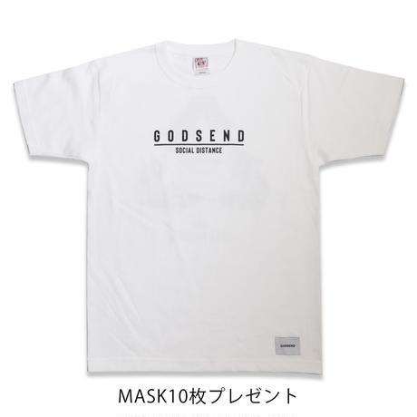 SOCIAL  DISTANCE  TEE  WHITE ソーシャルディスタンス  Tシャツ  ホワイト