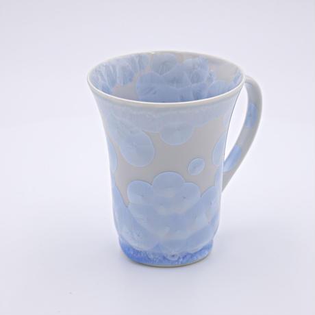 結晶釉 フリーマグカップ 青色 №420
