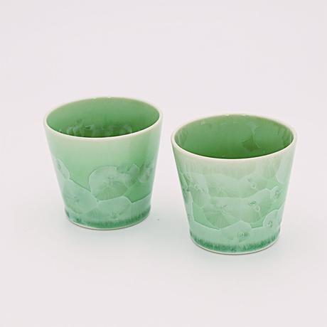 ペア・グリーン結晶ロックカップ