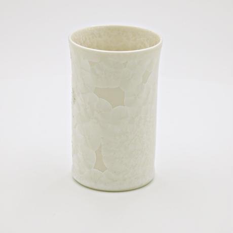 結晶釉 一口コップ 白 №390