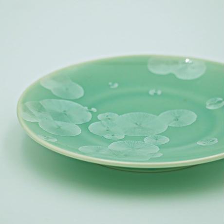 結晶釉 4寸皿 緑 №437