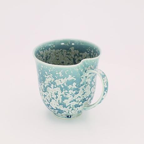 マリンスノー結晶釉 大マグカップ