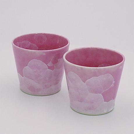 ピンク結晶 ペア・ロックカップ