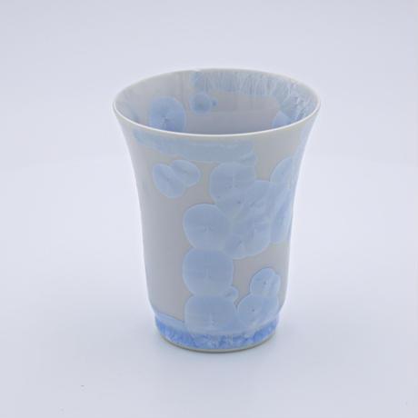 結晶釉 フリーカップ 青 №425