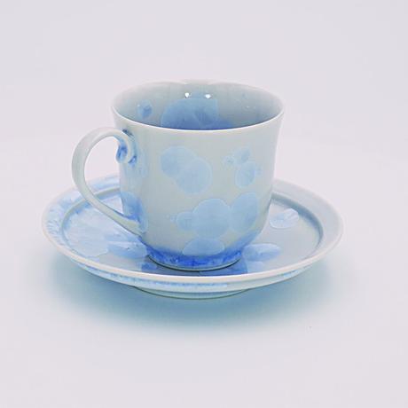 青結晶 コーヒー碗皿