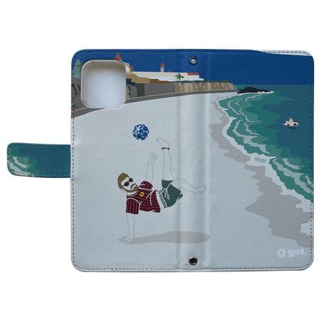 [限定クリアファイルプレゼント]<Futebol de areia>セミオーダースマホケース (手帳型)(G186-645)