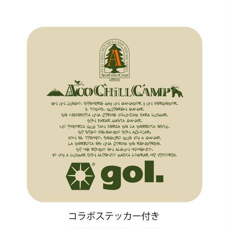 🉐ファイナルセール 50%OFF🉐ACO CHiLL CAMP🏕コラボ ドライシャツ(ステッカー付き)