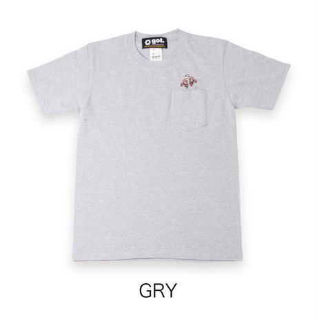 刺繍ポケットTシャツ<BARCELOS>(G192-806)