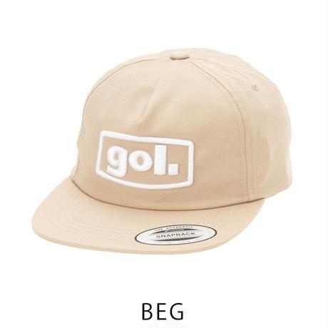 フラットキャップ<3Dロゴ>(G083-606)