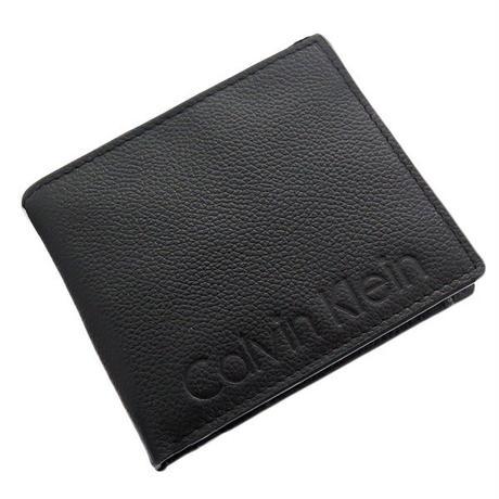 カルバンクライン 二つ折り財布 メンズ 79475-BK ブラック ブラック 送料無料