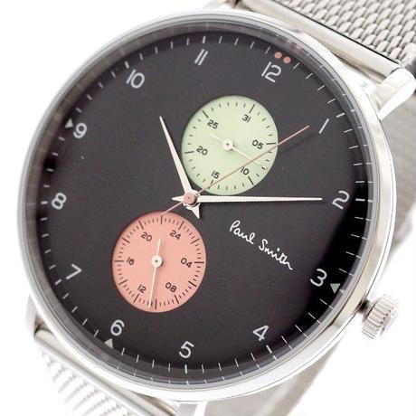 ポールスミス PAUL SMITH 腕時計 メンズ PS0070006 クォーツ ブラック シルバー ブラック 送料無料