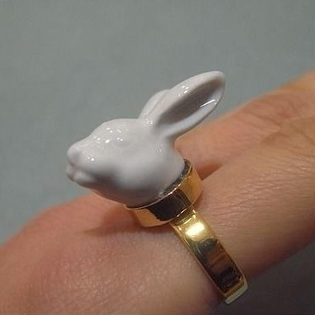 【ANDRESGALLARDO】 RABBIT HEAD RING