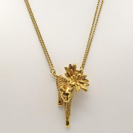 【CULOYON】 Chasseur Flower Cat ネックレス