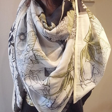 【SALE】【30%OFF】SWASH Half Knit Scarf CABANA DUSK