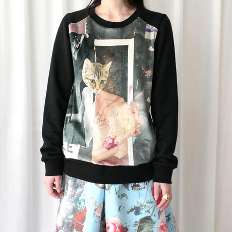 【SIMEON FARRAR】 PANEL SWEAT CAT