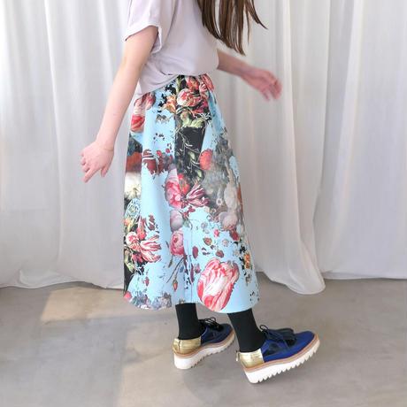 【SIMEON FARRAR】 BIG SKIRT with Blue Flower