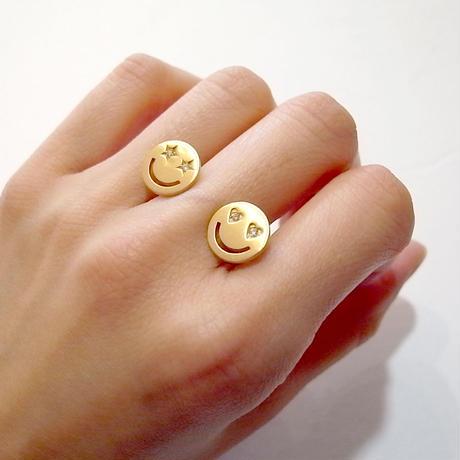 【KOMI】Double smiles ring