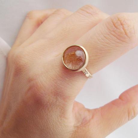 【bohem】10th Anniversary Ring ルチルクォーツ