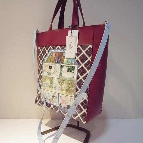 【SALE 20%OFF】SWASH PRINTED LEATHER TOTE DOLL'S HOUSE
