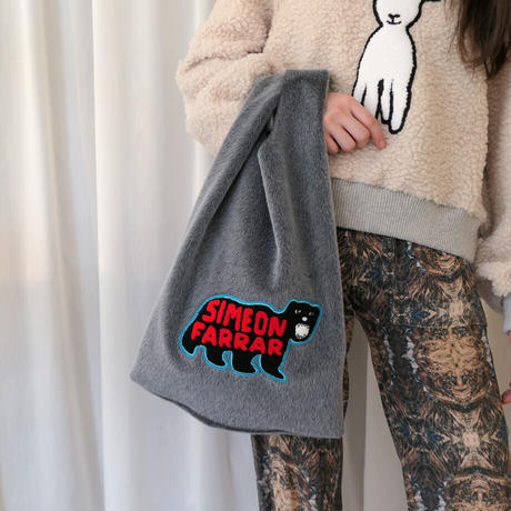 【SIMEON FARRAR】FUR SHOPPER BAG Polar Bear グレー