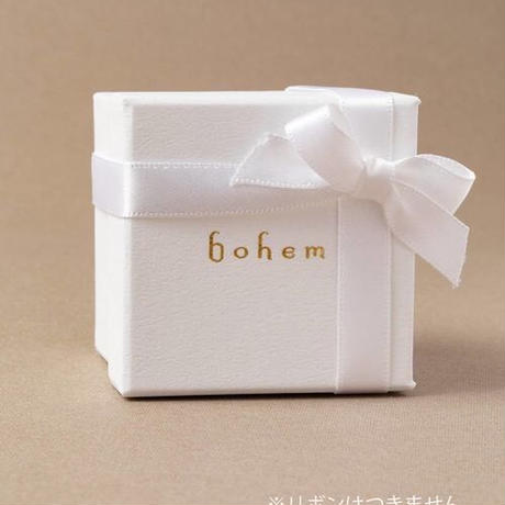 【bohem】 合成ピンクサファイアxピンクサファイア、カーネリアン フェアリーピアス