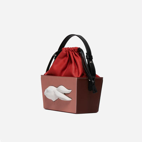 【ANDRESGALLARDO】 BOMBONERA RABBIT HEAD BAG