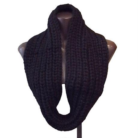 【karakoram accessories】 ベビーアルパカスヌード ブラック ミディアムロング