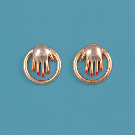 Hand Hoops Earrings from Paris