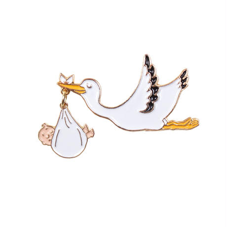 Stork ピンブローチ from Paris