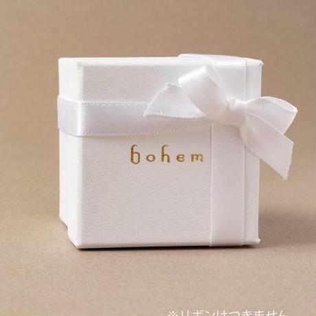 【bohem】 BIGルビーxグリーンガーネット フェアリーイヤリング